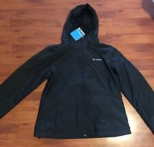 Columbia Sportswear Woman Black Jacket Water and Wind Resistant Size - L