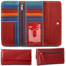Ladies Wallet Leather women Clutch w/ RFID Blocking stylish leather bag red new