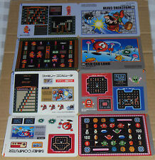 Japanese NES Famicom History Book Jumbo Stickers - Wrecking Crew & Clu Clu Land