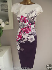 MONSOON RHONDA ROSE IVORY PINK PURPLE FLORAL SHIFT DRESS SUMMER WEDDING 22