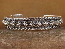 Native American Jewelry Handmade Sterling Silver Bracelet by Allen Lee