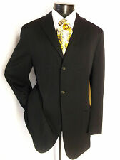 JIL SANDER mens wool tailor made Black 3Button  Sport blazer jacket sz  40L