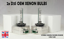 2x D3S Xenon Bulbs Audi A3 A4 A5 Q7 Bi Genuine Oem White Gas Discharge S3 Rs3