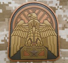 INDUSTRIAL EAGLE 3D PVC TACTICAL ARID BRONZE VELCRO® BRAND FASTENER PATCH