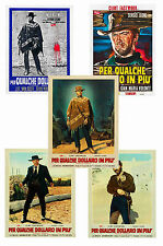 FOR A FEW DOLLARS MORE - SET OF 5 - A4 POSTER PRINTS # 1