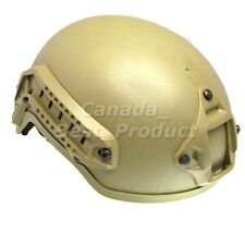 Airsoft Tactical Hunting MICH 2001 Helmet with Side Rail & NVG Mount DE Tan