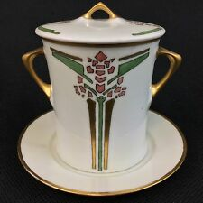 UNO Favorite Hutschenreuther Art Deco Nouveau Condensed Milk Jar Can Underplate