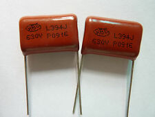 50PCS CBB21 394J 630V 0.39UF 390NF P20 Metallized Film Capacitor