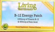 Vitamin B-12 MEGA Patch +Vit C Folic 2 Month Supply Methyl Increase Oxygen Flow
