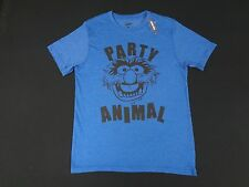 NWT DISNEY MUPPETS  JUMBO PARTY ANIMAL GRAPHIC - SMALL BLUE T-SHIRTS E1535