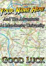Manchester   University good luck Card PIDZ01 A5 Personalised Greeting Card