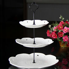 2/3 Tier Cake Plate Stand Cupcake Fittings Silver Golden Wedding Party GW