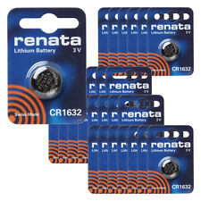 renata CR1632 Cell Coin Button Lithium Battery 3V Tag Watch Key Total 25