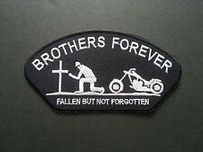HEAVY METAL PUNK ROCK MUSIC SEW / IRON ON PATCH:- BROTHERS FOREVER BIKER PATCH