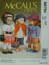 """McCall's 6764 Sewing PATTERN for 18"""" American Girl DOLL CLOTHES & ACCESSORIES"""