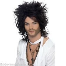 Mens Sex God Wig Russell Icon Brand Fancy Dress Rocker Rock n Roll Glam Big Hair