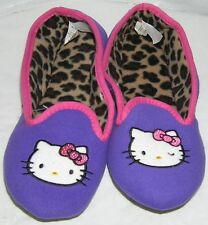 Hello Kitty Slippers PURPLE BACK TO SCHOOL FREE SHIPPING LADIES LARGE 9-10 NWT