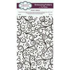 CREATIVE EXPRESSIONS  Embossing Folder by Sue Wilson FROSTY SWIRLS EF-047