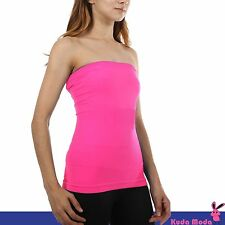 Strapless Bandeau Tube Top Ultra Soft Stretchy Seamless Slimming Basic Shirt Hot