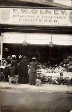 Harrow. F.W.Olney Shop. Fruiterer. ? Station Road.