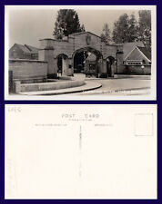 UK LEICESTERSHIRE LOUGHBOROUGH COLLEGE STADIUM ENTRANCE REAL PHOTO 1955
