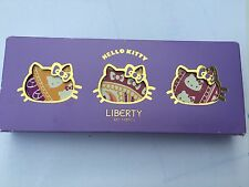 SANRIO HELLO KITTY PER LIBERTY Set 3 tinte LIP balms CANDY Kisses BN BOXED