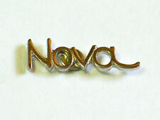Chevrolet Nova Script Pin Badge, Auto Lapel Pin, Chevy Hat Tack