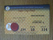 01/08/1999 Ticket: Cricket - Benson And Hedges Super Cup Final - Yorkshire v Glo