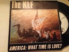 "KLF SPANISH PROM0 7"" SINGLE SPAIN AMERICA WHAT TIME IS LOVE?"