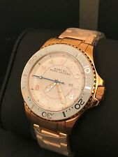 Marc by Marc Jacobs MBM3409 Women's Dizz Sport Rose Gold White Dial Watch NWT