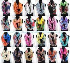 $2.75/p -wholesale lot 20  vintage floral paisley abstract print infinity scarf