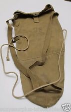 WWII US Paratrooper Training Gas Mask Bag m1a1 Tan canvas w string each E313