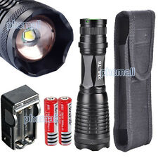 2200 Lumen CREE XM-L T6 LED Flashlight Torch light Lamp+2x 18650 Battery+Charger