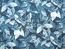 INDIGO BUTTERFLIES  By KONA BAY-100% Cotton Fabric-by the YARD!