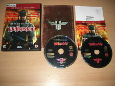 RETURN TO CASTLE WOLFENSTEIN - Special Edition RTCW Pc Cd Wolfenstien  FAST POST