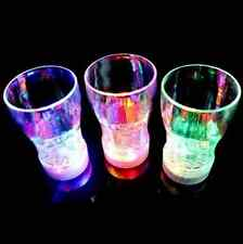 Water Activated Color Change Flash Light LED Whisky Shot Glass Cup For Bar Club