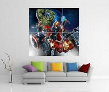 THE AVENGERS ASSEMBLE MARVEL IRON MAN HULK THOR GIANT WALL ART PRINT POSTER H89
