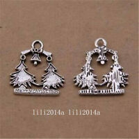 40PC Tibetan Silver Charms Christmas tree Pendant accessories Findings PL1164