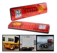 2X 19 LED Trailer Truck RV ATV Turn Signal Running Tail Light White-Amber-Red