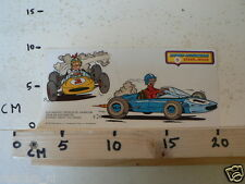 STICKER,DECAL SUSKE & WISKE STRIPSTICKERS NO 5 FORMULE 1 1975