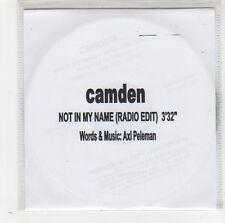 (FV956) Camden, Not In My Name - DJ CD