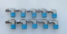 """Lot of 10: Swagelok 1/4"""" X 3/8"""" Stainless Steel  90 Elbow SS-400-2-6  New"""