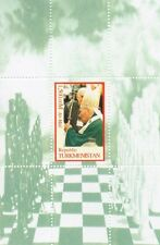 POPE JOHN PAUL II CATHOLIC RELIGION TURKMENISTAN MNH STAMP SHEETLET