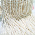 4-5mm 5-6mm 7-8MM 8-9mm 9-10mm White FRESHWATER Cultured Pearl Loose Bead 15''