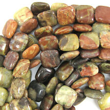 "16mm natural Australian agate flat square beads 15"" strand"