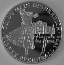 """Österreich 100 Schilling 1996 Silber Casinos Austria """"Wiener Opernball"""""""