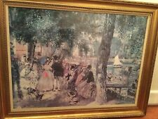 Beautiful LARGE Print Signed Pierre-Auguste Renoir Reproduction