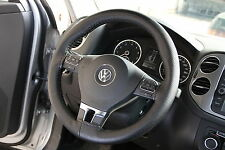 Black PVC Leather Steering Wheel Stitch Wrap Cover Needle Thread DIY Chevy Truck