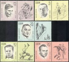 Germany 1963 Sportsmen/WWII/Cycling/Football/Mountain Climbing 5v set (n43937)