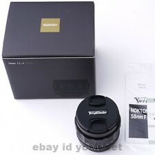 Voigtlander NOKTON 58mm F1.4 SL II N For Nikon F Japan Express Shipping In Stock